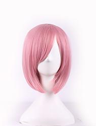 moda sexy mulheres perucas de cabelo curto cor-de-rosa perucas cosplay sintéticas