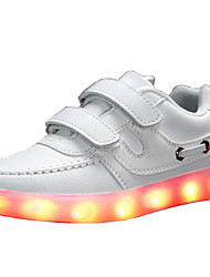 Boy's LED'S Shoes Sneakers Comfort / Flats Athletic / Casual Flat Heel Magic Tape / LED Black / Blue / White