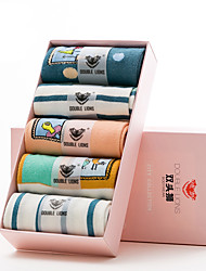 DOBLE LIONS® Mujer Algodón Calcetines 5 / caja-WM0023