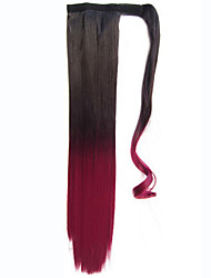 Clip in Warp around Ponytail Hairpieces Straight Wrap Clip False Ponytail Drawstring With Clip in Ombre Ponytail Hair