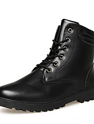Men's Fashion Boots Casual/Outdoor Leather Medium cut Walking Combat Boots
