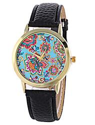 Women's Fashion Analog Flower Ladies' Christmas Display Strap Bohemia Quartz Wrist Watch