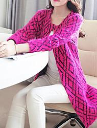 JANE FANS mode col rond Mohair manteau du chandail en tricot (modèle aléatoire)