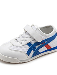 Unisex Sneakers Spring / Fall Comfort PU Casual Flat Heel Magic Tape Black / Blue / Gold Sneaker