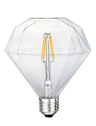 G125 3.5W 280-320lm Diamond LED Edison Light Bulb Scene Retro Energy Saving 220V 4W 2300K E27 (Warm Yellow)