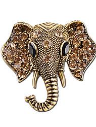ювелирные изделия кристалл богемной слон броши женской моде