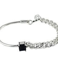 Silver Plated Rhinestone Chain Bracelets
