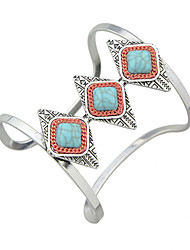 Imitation Turquoise Big Cuff Bracelets Christmas Gifts