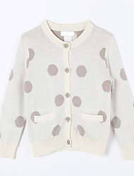 Girl's Casual/Daily Polka Dot Sweater & CardiganCotton Fall White