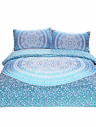 BeddingOutlet Luxury Boho Bedding Crystal Arrays Duvet Quilt Cover Blue Printed Bedspread 3Pcs New Arrivals
