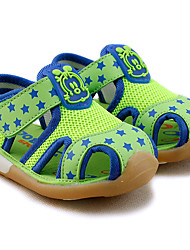 Boys' Sandals Comfort Cotton Tulle Summer Casual Comfort Animal Print Low Heel Green Royal Blue Under 1in