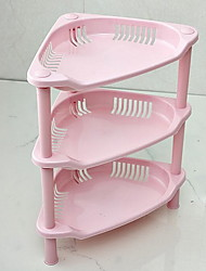 1 Cozinha Cozinha Plástico Prateleiras e Suportes 34*28*19cm