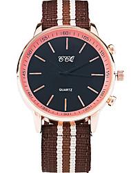 Hommes Montre Bracelet Quartz / Tissu Bande Cool Pour tous les jours Blanc Rouge Marron Blanc Marron Rouge
