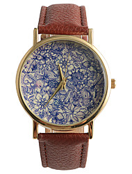 Fashion Belt Gorgeous Purple Flower World Ladies Watch