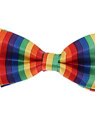 Baby Kids Adjustable Jacquard Polyester Silk Bow Tie