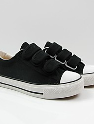 Unisex Sneakers Spring / Fall Flats Rubber Casual Flat Heel Others Black / White Sneaker