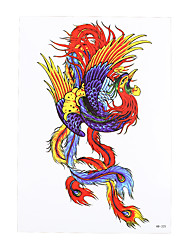 1pc Beauty Decal Oriental Traditional Phoenix Picture Design Temporary Tattoo Sticker for Women Men Body Art HB-325