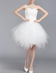 yuntuo®sheath / coluna querida tule vestido curto / mini-casamento