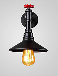 Max 60W Loft vintage Industrial Edison Fashion Simplicity Wall Sconce Metal Base Cap
