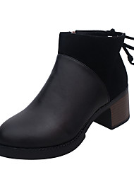 Черный-Женский-Для вечеринки / ужина-Полиуретан-На толстом каблуке-Ботинки-Ботинки