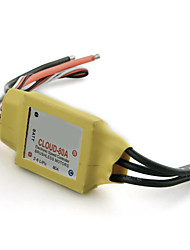Mystery Cloud 50A Brushless Motor ESC RC Speed Controller 2A BEC for Airplane