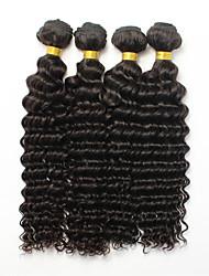 Brazilian Virgin Hair 4pcs Kinky Curly Virgin Hair Brazillian Human Hair Weave Bundles Curly Deep Wave