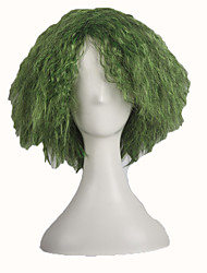 Green Joker Fluffy Curly Hair Party Halloween Cosplay Costume Wig high Temperature Fibre