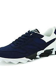 Masculino-Tênis-Conforto-Rasteiro-Preto / Azul / Preto e Branco / Preto e Vermelho-Couro Ecológico-Casual