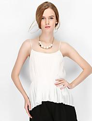NAKED ZEBRA Women's U neck Sleeveless Vest & Waistcoat Black / White-AT2964