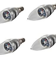 3W E14 Ampoules Bougies LED C35 1 LED Haute Puissance 200-240 lm RVB Décorative AC 100-240 AC 110-130 AC 85-265 V 4 pièces