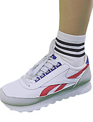 Women's Sneakers Spring Fall Comfort Fabric Outdoor Athletic Flat Heel Lace-up Blue Green Red