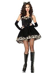 Costumes More Costumes Halloween / Oktoberfest Black Solid Terylene Dress / More Accessories
