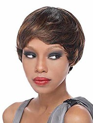 Capless Short High Quality Natural Straight Hair Synthetic Wig With Free Gap