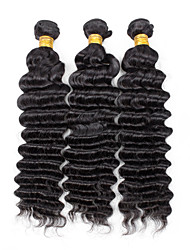 Bolin Hair 3pcs Super Wavy Human Hair Weaves  8inch to 30inch Human Hair Extensions