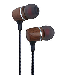 Premium Genuine Wood In-ear Noise-isolating Headphones Earbuds Earphones Black walnut Wood In-ear Headsets with Mic