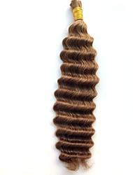 Precolored Tejidos de pelo Cabello Brasileño Ondulado Medio 6 Meses 1 Pieza los tejidos de pelo