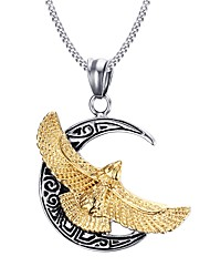 Men's Pendant Necklaces Stainless Steel Gold- Plated Punk Style Party Halloween Gift (1pc)