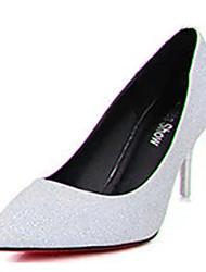 Damen-High Heels-Lässig-PU-Stöckelabsatz-Absätze-Schwarz / Silber / Gold