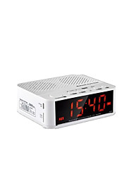 CMPICK Wireless Bluetooth Speaker Home Bedside Mini Audio Alarm Clock Radio Portable Car Hands-Free Car Audio Card
