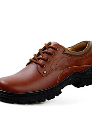 Men's Oxfords Spring / Fall Comfort / Round Toe PU Casual Flat Heel Lace-up Black / Brown Others