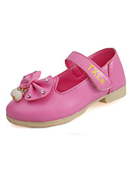 Girl's Loafers & Slip-Ons Spring / Fall Comfort / Round Toe PU Casual Flat Heel Magic Tape Pink / Red / White Others