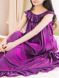 Women Polyester / Ice Silk Pajama