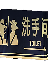 Acrylic Signs Male And Female Toilets Wc Sign Toilet Signs On The Toilet Door Stickers Signage