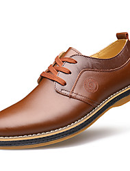 Men's Oxfords Spring / Summer / Fall / Winter Comfort / Round Toe Cowhide Wedding / Office & Career Flat Heel Lace-up