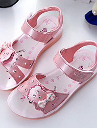 Girl's Sandals Summer Sandals / Open Toe Microfibre Casual Flat Heel Bowknot Blue / Pink / Coral Others