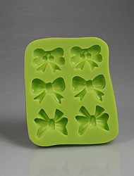 Green bows shape chocolate candy 3D silicone fondant mold decoration baking soap tools kitchen accessories