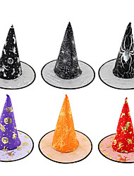 1Pcs Random delivery Halloween Witch Hat Festival Costume Accessory Costume Masquerade Party Props Cosplay Carnival toy