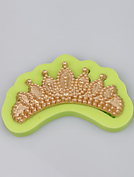 Fashionable jewelry mold elegant crown shaped wholesale silicone soap molds Color Random