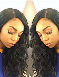 Side Part Lace Front Human Hair Wigs For Black Women Malaysian Virgin Hair Lace Front Wigs With Baby Hair