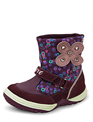Brand Outlet Girl's Boots Fall / Winter Fashion Boots / Round Toe Synthetic / Suede Casual Flat Heel Magic Tape Purple